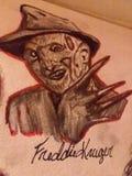 Desenho de Freddy foto de stock