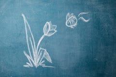 Desenho de giz fotografia de stock