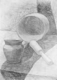 Desenho de lápis ilustração do vetor