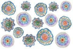 Desenho de lápis do ` s das crianças em tons multi-coloridos florais ilustração stock