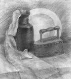 Desenho de lápis do estudo Imagens de Stock