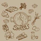 Desenho de Shabu Foto de Stock