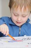 Desenho de um pai e de um filho Fotos de Stock