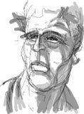 Desenho de uma cabeça masculina Imagem de Stock