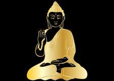 Desenho de uma estátua da Buda Fotografia de Stock Royalty Free