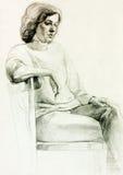 Desenho de uma mulher Fotos de Stock Royalty Free