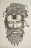 Desenho de Vaishnav Sadhu Foto de Stock Royalty Free