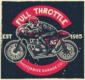 Desenho disponivel da motocicleta do piloto do café do passeio do homem Fotos de Stock