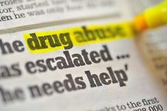 Desenho do abuso de drogas imagens de stock royalty free
