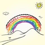 Desenho do arco-íris ilustração stock