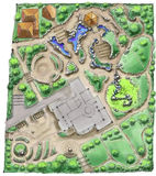 Desenho do arquiteto de paisagem Foto de Stock Royalty Free