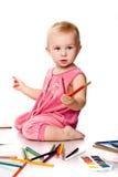 Desenho do bebê fotos de stock