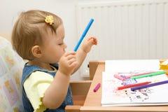 Desenho do bebê Imagem de Stock Royalty Free