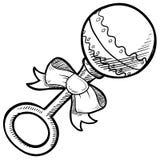 Desenho do chocalho do bebê Foto de Stock Royalty Free
