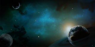 Desenho do computador do cosmos da ilustração do planeta Fotografia de Stock Royalty Free