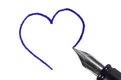 Desenho do coração Fotos de Stock Royalty Free