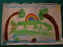 Desenho do crocodilo foto de stock