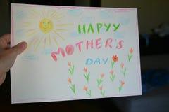 Desenho do dia de mães de Hapyy Imagem de Stock