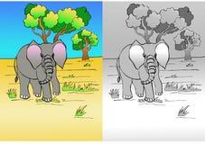Desenho do elefante Imagem de Stock