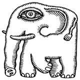Desenho do elefante africano Foto de Stock Royalty Free