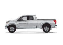 Desenho do estilo dos desenhos animados do caminhão de coletor Fotografia de Stock