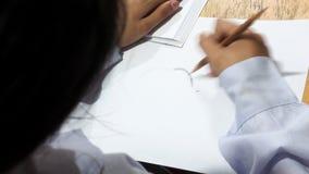 Desenho do estudante do conceito do borrão do fundo Fotos de Stock