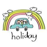 Desenho do feriado da família Fotografia de Stock