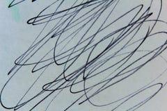 Desenho do garrancho no preto ilustração royalty free