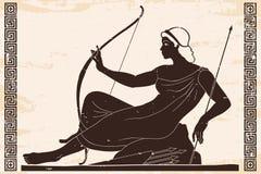 Desenho do grego clássico ilustração stock