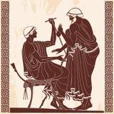 Desenho do grego clássico Imagem de Stock Royalty Free