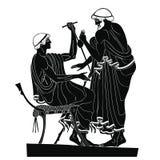 Desenho do grego clássico Imagens de Stock Royalty Free
