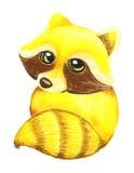 Desenho do guaxinim ilustração royalty free