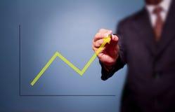 Desenho do homem de negócio sobre o alvo Imagem de Stock Royalty Free