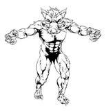 Desenho do homem do varrão Fotos de Stock