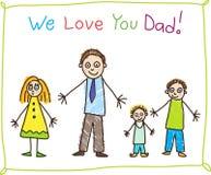 Desenho do miúdo. Dia de pai. ilustração do vetor