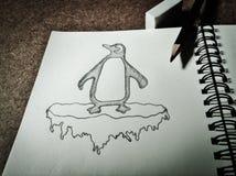 Desenho do pinguim ilustração stock
