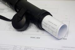 Desenho do plano Fotografia de Stock