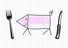 Desenho do porco ilustração stock