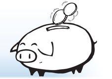 Desenho do porco do dinheiro Fotografia de Stock