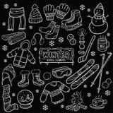 Desenho do quadro do elemento do inverno Imagem de Stock