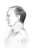 Desenho do retrato ilustração stock