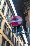 Desenho do sinal de estrada em Florença Foto de Stock