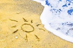 Desenho do sol Fotos de Stock Royalty Free
