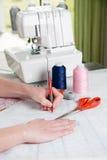 Desenho do teste padrão da costura Fotos de Stock Royalty Free