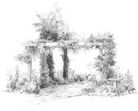 Desenho do Trellis Fotografia de Stock