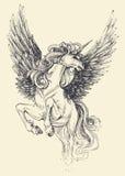 Desenho do unicórnio ilustração royalty free