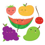 Desenho do vetor dos frutos ilustração royalty free