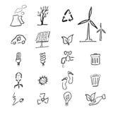 Desenho dos desenhos animados das alterações climáticas Fotos de Stock Royalty Free