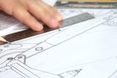 Desenho e lápis fotos de stock royalty free