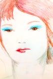 Desenho estilizado da mulher Imagens de Stock Royalty Free